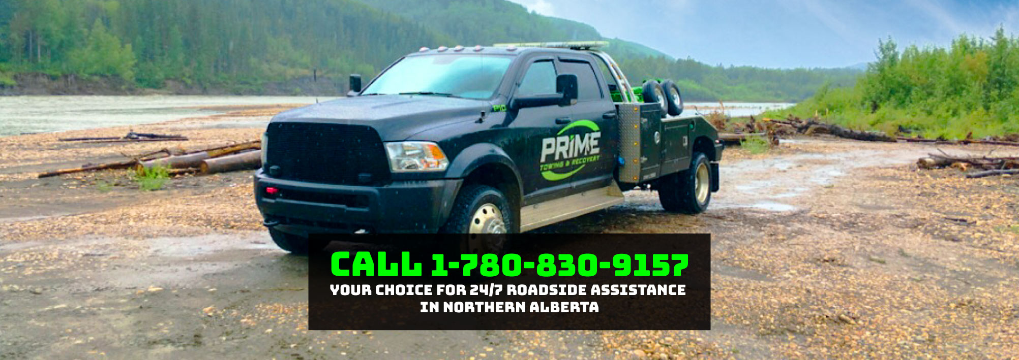 Prime Towing & Recovery - Call 1-780-830-9157 for Help on the Road!